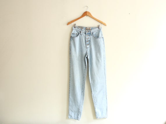 "90s Mexican high waist 26"" jeans vintage 1990s - image 1"