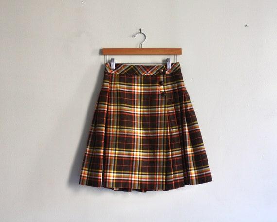 60s plaid mini skirt 1960s vintage