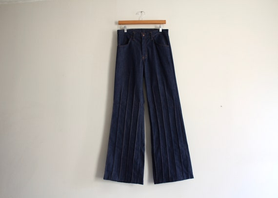 """70s stitched Sears high waist 29"""" wide leg bell bo"""