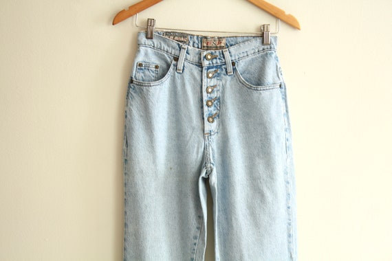 "90s Mexican high waist 26"" jeans vintage 1990s - image 2"
