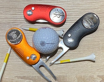 Foldable Divot Tool with Laser engraving your name or logo Ball Marker