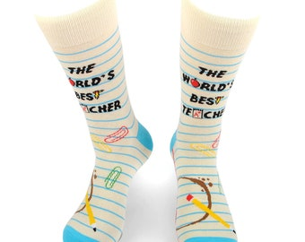 Teacher gift Thank you teacher End of term Socks for him Thank you teacher gift personalised socks