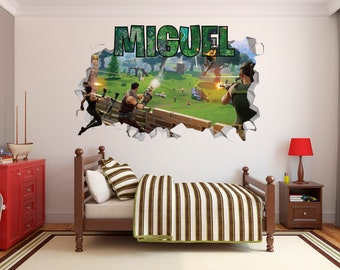 OVERWATCH 3D STYLE WALL ART HOLE IN WALL SMASH DECAL GAME GAMING