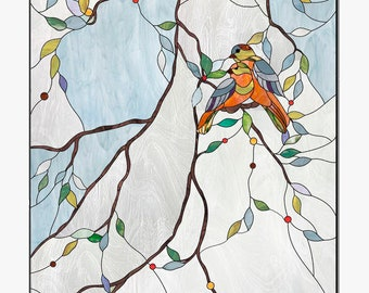 Birds Stained glass pattern to download