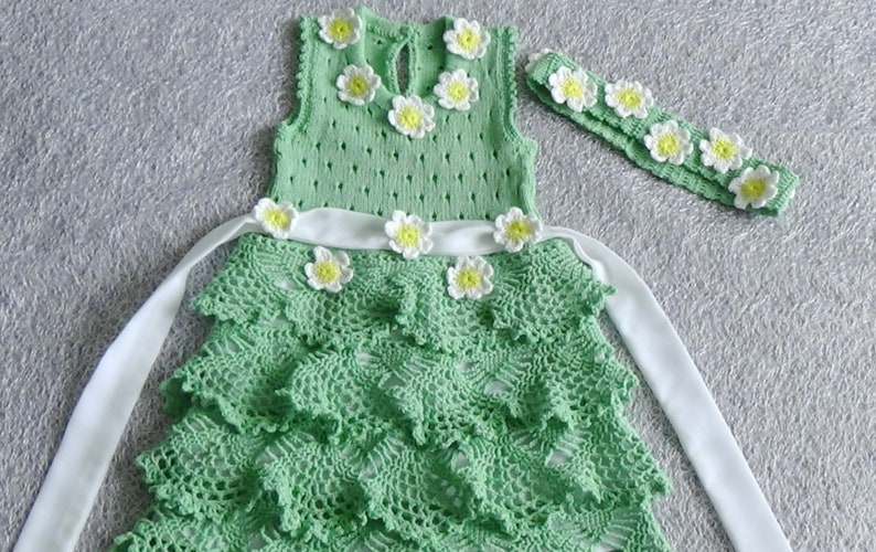 knitted dress baby dress girls knit dress girls summer dress summer dress crochet baby dress, dress for girls cotton baby dress