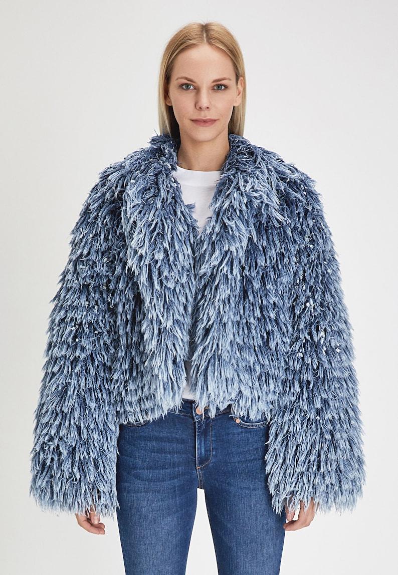 Size S Organic Cotton Denim Fur