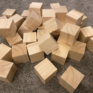 Price PER Cube Large Wooden Cubes Hollow BABY Birthday Wedding MDF Various Sizes Painted