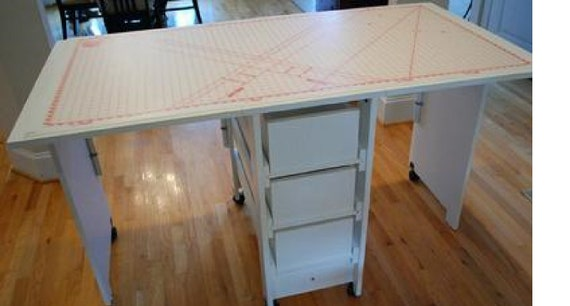 Cutting Craft Table With Drawer Storage Etsy