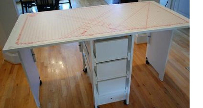 Cutting & Craft Table With Drawer Storage image 0