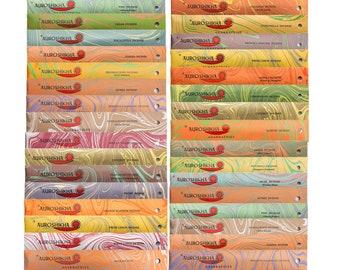 Auroshikha Incense ~ 50+ Scents ~  Auroshikha Agarbathies Marbling Incense Sticks - 10 Sticks each Pack