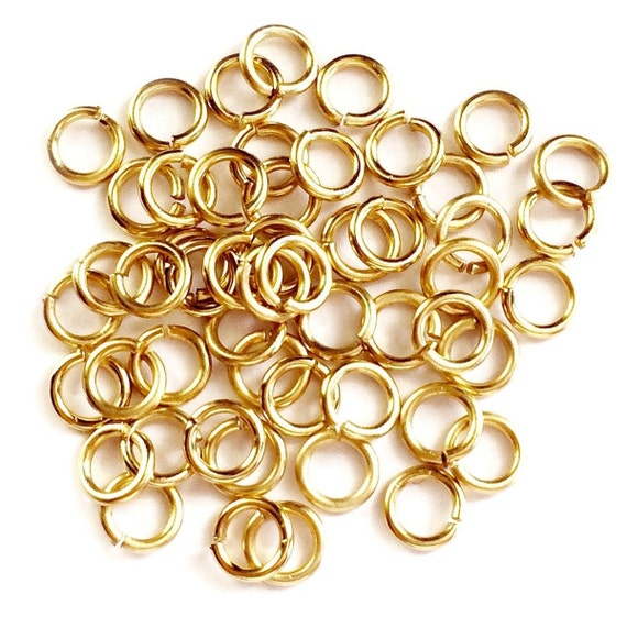 Supply GF 3 to 10 mm 14 to 22 gauge 14 kt gold filled   Jewelry making Open jump ring