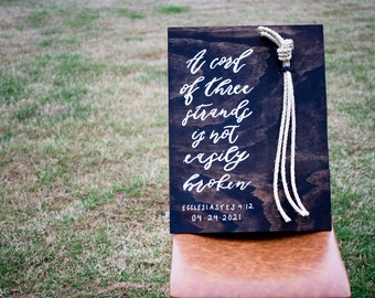 A Cord of Three Strands Wedding Sign / Ecclesiastes 4:12 Wedding Sign