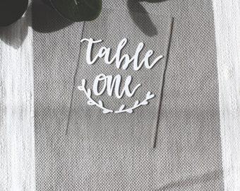 Handwritten Acrylic Table Numbers