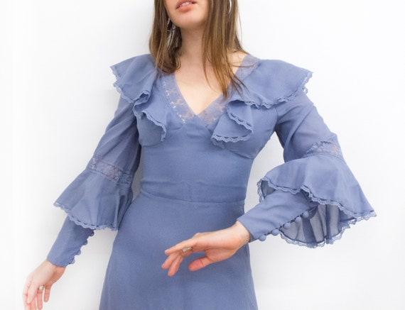 Lilac bridemaid vintage dress 70's Vera Mont Paris