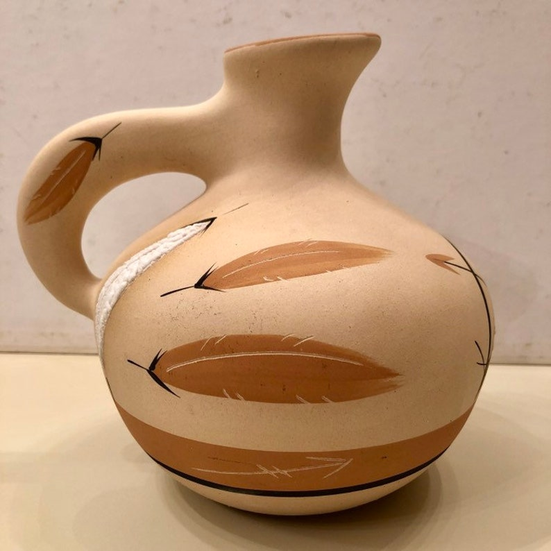 Vintage Water Jug by Buck Skin 1986 Southwestern Decor Desert Pueblo Pottery
