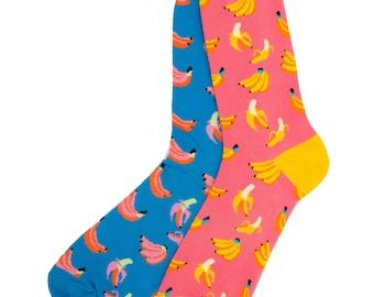 Banana Odd Socks | Happy Odd Socks |  Funky Socks | Cool Socks | Fun Socks | Novelty Socks | Cotton Socks | Unisex Socks | Presents | Gifts