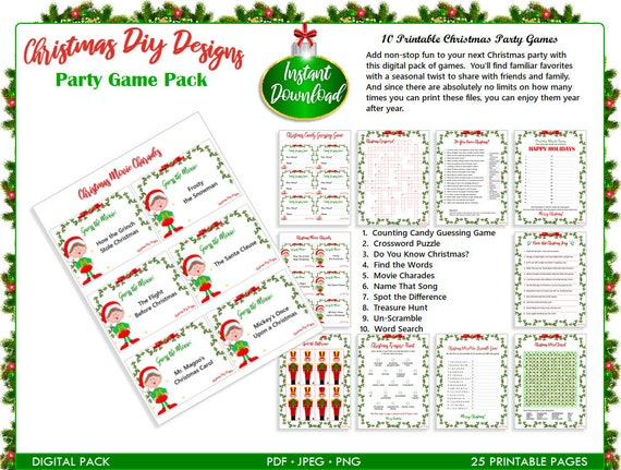 It's just a photo of Printable Christmas Party Games inside guessing