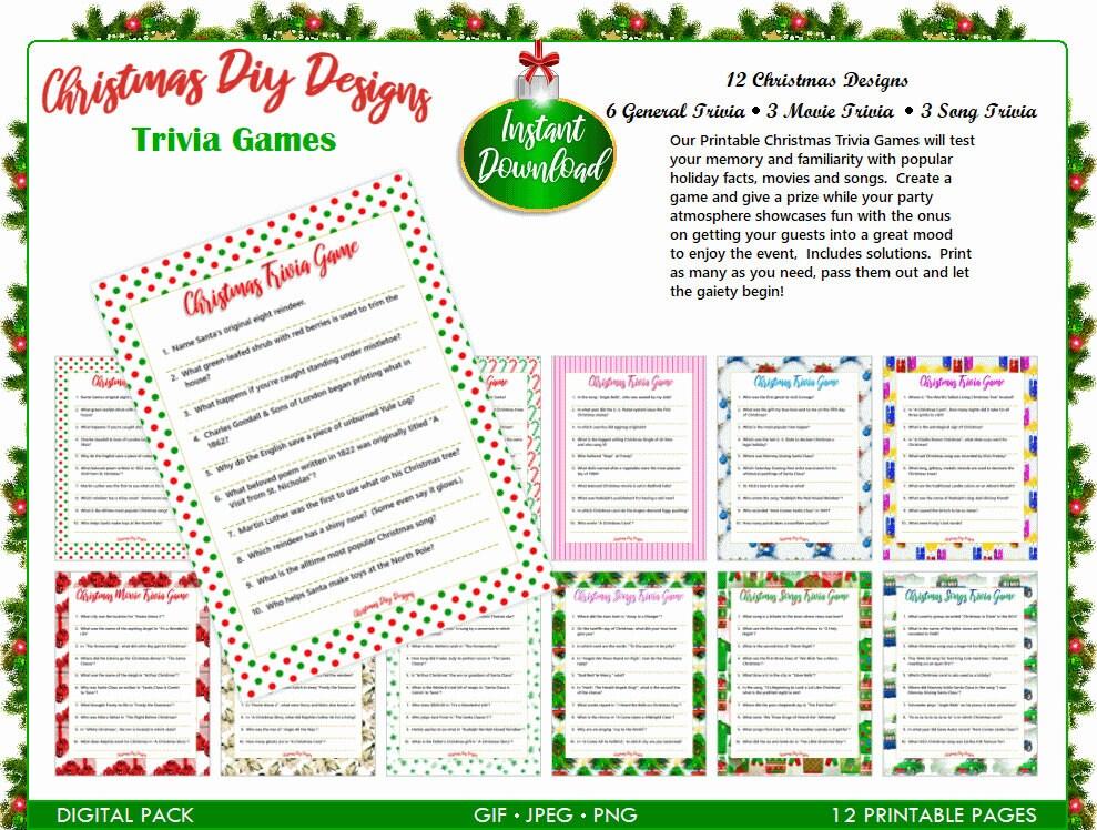 Christmas Trivia Printable.Printable Christmas Trivia Games Christmas Party Games Christmas Trivia Games Diy Christmas Trivia Games Instant Download