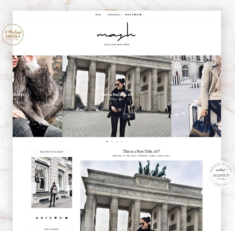 UPDATED MashUp  Blogger Template Responsive Design Custom image 0