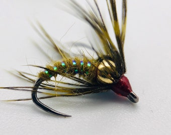 Bead Head Squirmy Wormy Fly 6 Flies 1//2 Dozen Variety Pack
