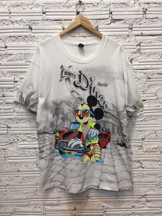 Vintage Mickey Mouse Florida overprint T Shirt 90s