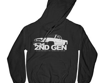 833f4f88 2ND Gen Dodge Ram Truck Hoodie Sweatshirt