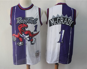 aa78bea71ef NWT Toronto Raptors  1 McGrady Dual Mens Youth Fully Stitched NBA Jersey    Basketball Team Uniform Customize   Full Sublimation Wholesale