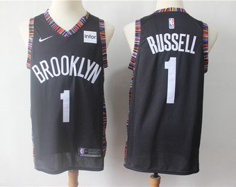 27208965b1a NWT Brooklyn Nets Russel  1 Black Mens Youth Fully Stitched NBA Jersey    Basketball Team Uniform Customize   Full Sublimation Wholesale
