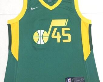 f14805772 Utah Jazz Mitchell  45 Basketball NBA Game Performance Jersey NWT Men s  Fully Stitched