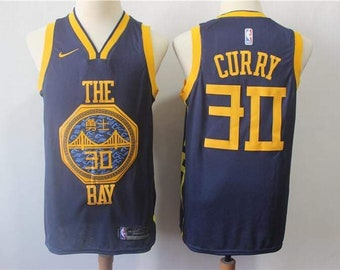 e3212ae31a6 NWT GSW Warriors Curry 30 Blue The Bay Mens Youth Fully Stitched NBA Jersey    Basketball Team Uniform Customize   Full Sublimation Wholesale