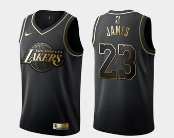 e0c9b60a020 Golden Edition Los Angeles Lakers  23 Lebron James Basketball Jersey NBA  Game NWT Men s Youths Fully Stitched