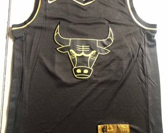 9bde6ce09b9 Golden Edition Chicago Bulls #23 Jordan Basketball Jersey NBA Game NWT  Men's Youths Fully Stitched