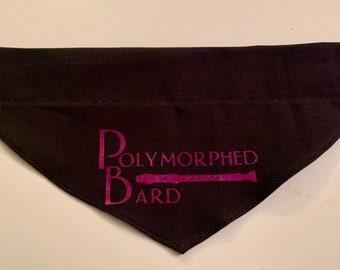 Dog Bandana, Over the Collar Dog Bandana Polymorphed Bard, Best Friend, Bard, Critical Role, Scanlan