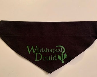 Over the Collar Dog Bandana, Wildshaped Druid, Best Friend, Druid, Critical Role, Keyleth