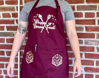 DnD Apron, Geek Gift, Dungeons and Dragons Apron, Dad Gift, Cook Gift, Geek Apron, D&D, Dungeons and Dragons Apron