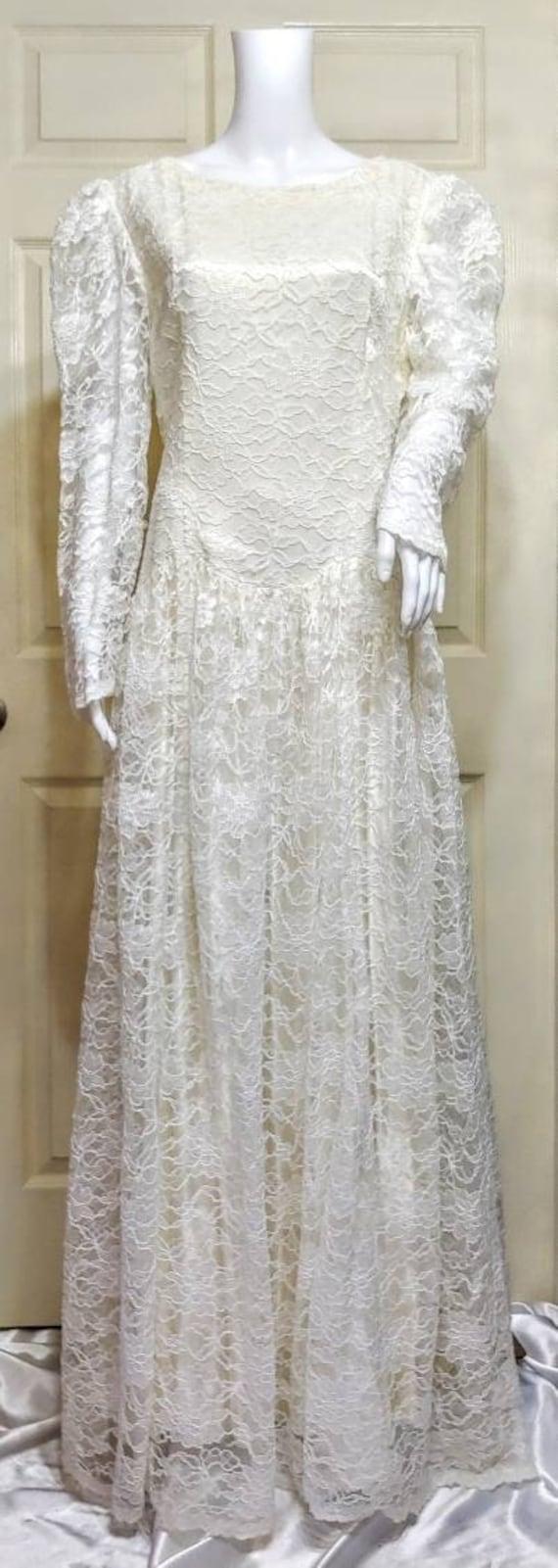 Vtg Lace Gown