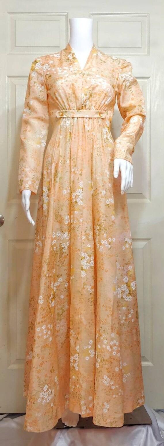 Vtg Maxi Prairie Dress