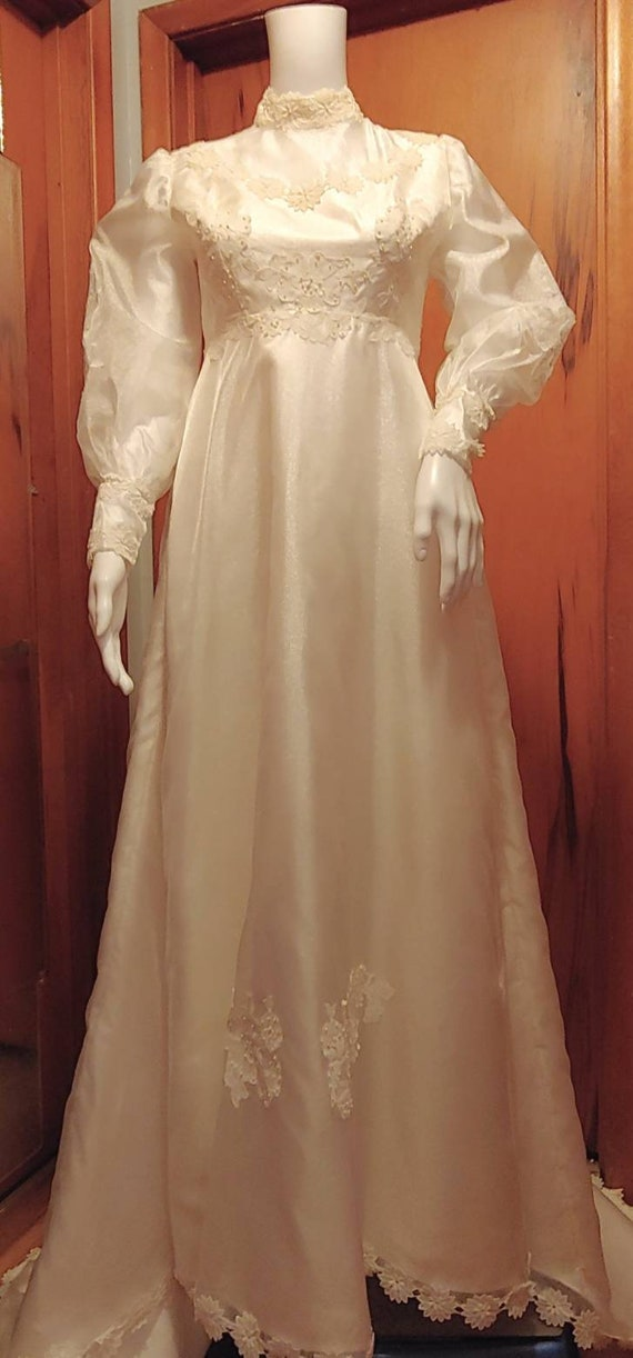 Vtg 1950's Wedding Gown