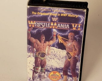 WWF Wrestlemania 7 classic WWE  Blu Ray Vhs Keychain