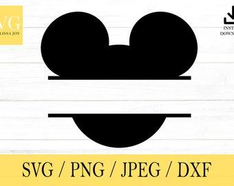 Mickey Mouse svg, Custom Name, DisneySVG, svg, png, dxf, jpeg, Digital Download, Cricut, Silhouette, Glowforge, Svg files for cricut