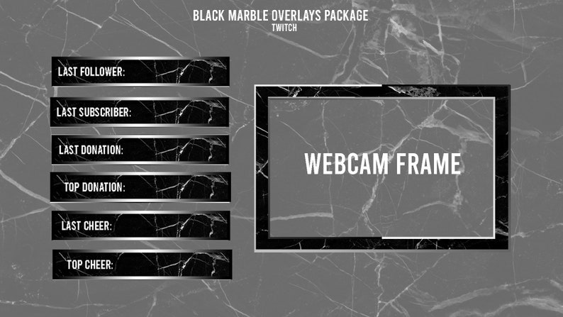 Black Marble | Twitch Overlays