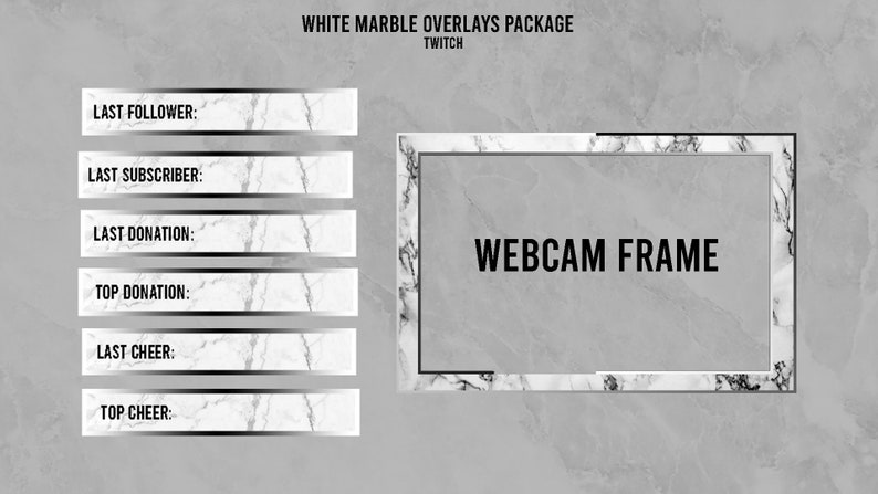 White Marble | Twitch Overlays