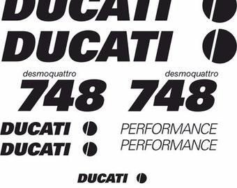 Ducati Performance 748 Performance Quality Vinyl Decals Any Colour Best Price Uk
