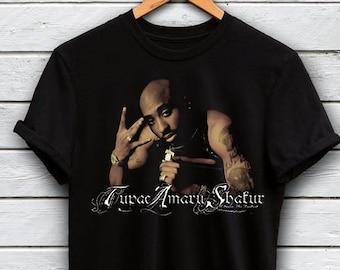 e87f8fd1985 Tupac T-shirt Lace Up Hip Hop T-shirt