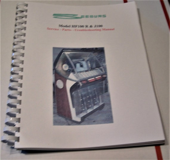 Collectibles SEEBURG WALL-O-MATIC 100 Jukebox Service MANUAL 3W1 ...