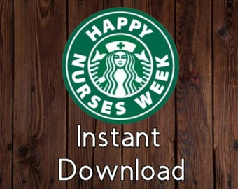 photograph regarding Starbucks Logo Printable identified as Starbucks symbol nurse Etsy