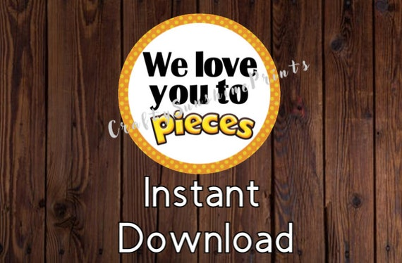graphic about I Love You to Pieces Printable titled Instantaneous Down load We Appreciate Oneself Toward Elements- Printable Stickers/Present Tags