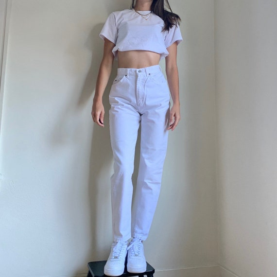 Vintage White Lee Jeans