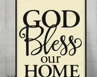 Shelf Sitter 21 Colors to Choose from! God Bless Our Home Wooden Sign
