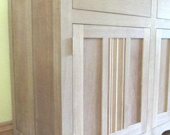 Solid Oak Bespoke Handmade Marble Top Sideboard,absolutely gorgeous...